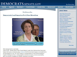 U.S. Senate Democrates blog media page