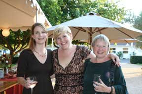 Finalists Jamie Martin and Erin Evenson (left and middle) pose with Erin's mom (right) at our pre-BBB bash.