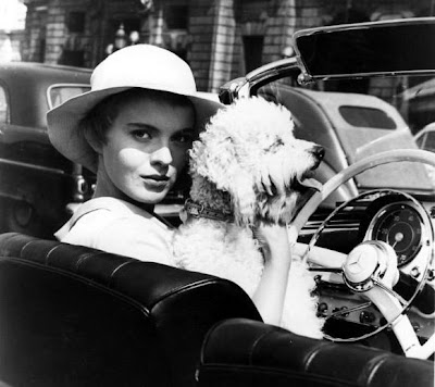 Jean Seberg with a frigging poodle and a frigging hat. Sorry.