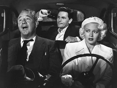 Lana Turner drives everyone to Doomsville in The Postman Always Rings Twice.