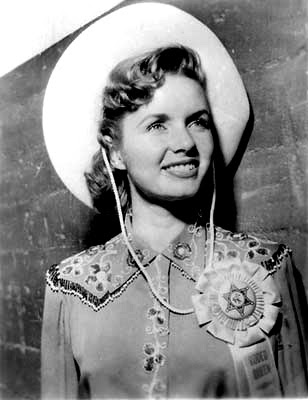Debbie Reynolds was born in El Paso, so she's earned the right to wear this cowboy...er...cowgirl hat.