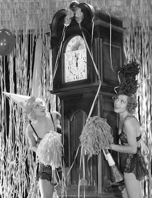 Dorothy Lee and friend wait for the New Year.