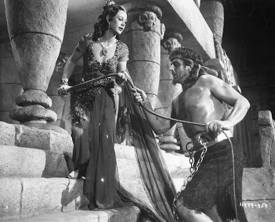 Hedy leads a blind Victor Mature to his doom in Samson and Delilah.