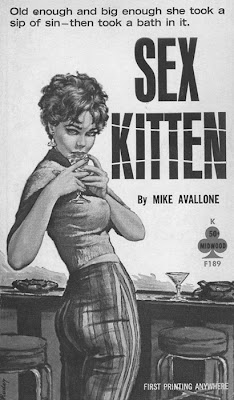 Sex Kitten pulp paperback cover.