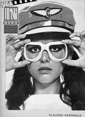 Claudia Cardinale in really silly goggles.