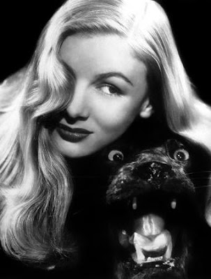 Veronica Lake and a deceased feline.
