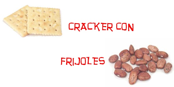 Cracker with Beans