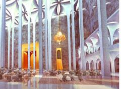 vue  intérieur de la salle de Priére