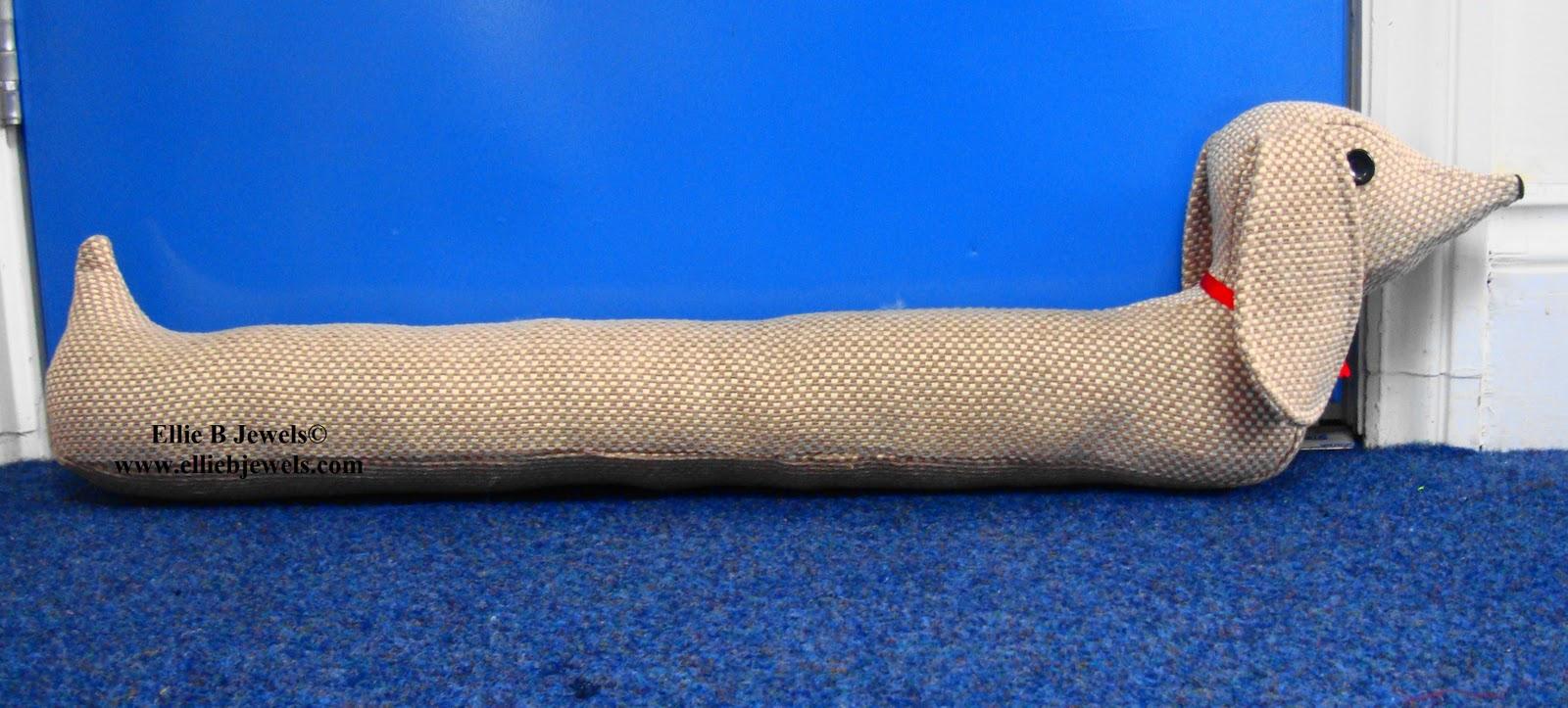 Knitting Pattern For Sausage Dog Draught Excluder : From Beads to Buttons: Sausage Dog draught excluder