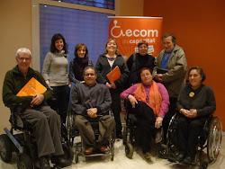 L'equip de la candidatura ECOM - MªJosé Vázquez