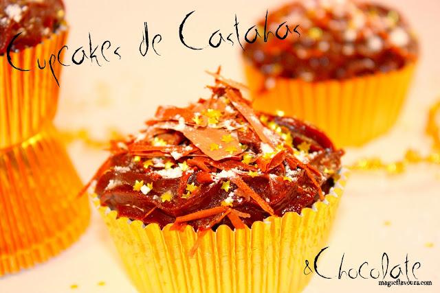 : Chocolate chestnut cupcakes / Cupcakes de castanha e chocolate ...