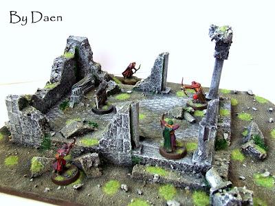 makieta ruin świątyni lotr sbg