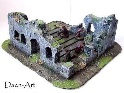 makieta ruin budynku