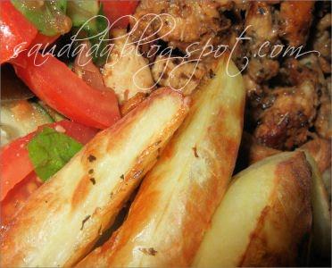 ziemniaki kartofle pieczone złote chrupiące