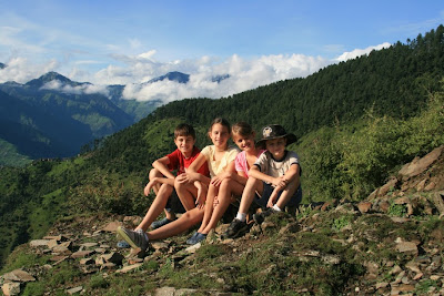 Children posing in Chamba valley