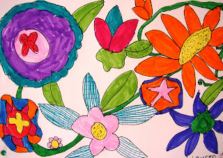 Deep space sparkle art lessons for kids flower drawings Teach me how to draw a flower