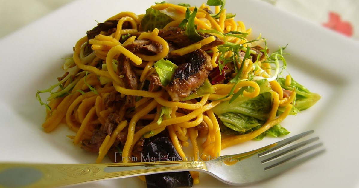teriyaki beef noodle salad - Lisa's Lemony Kitchen