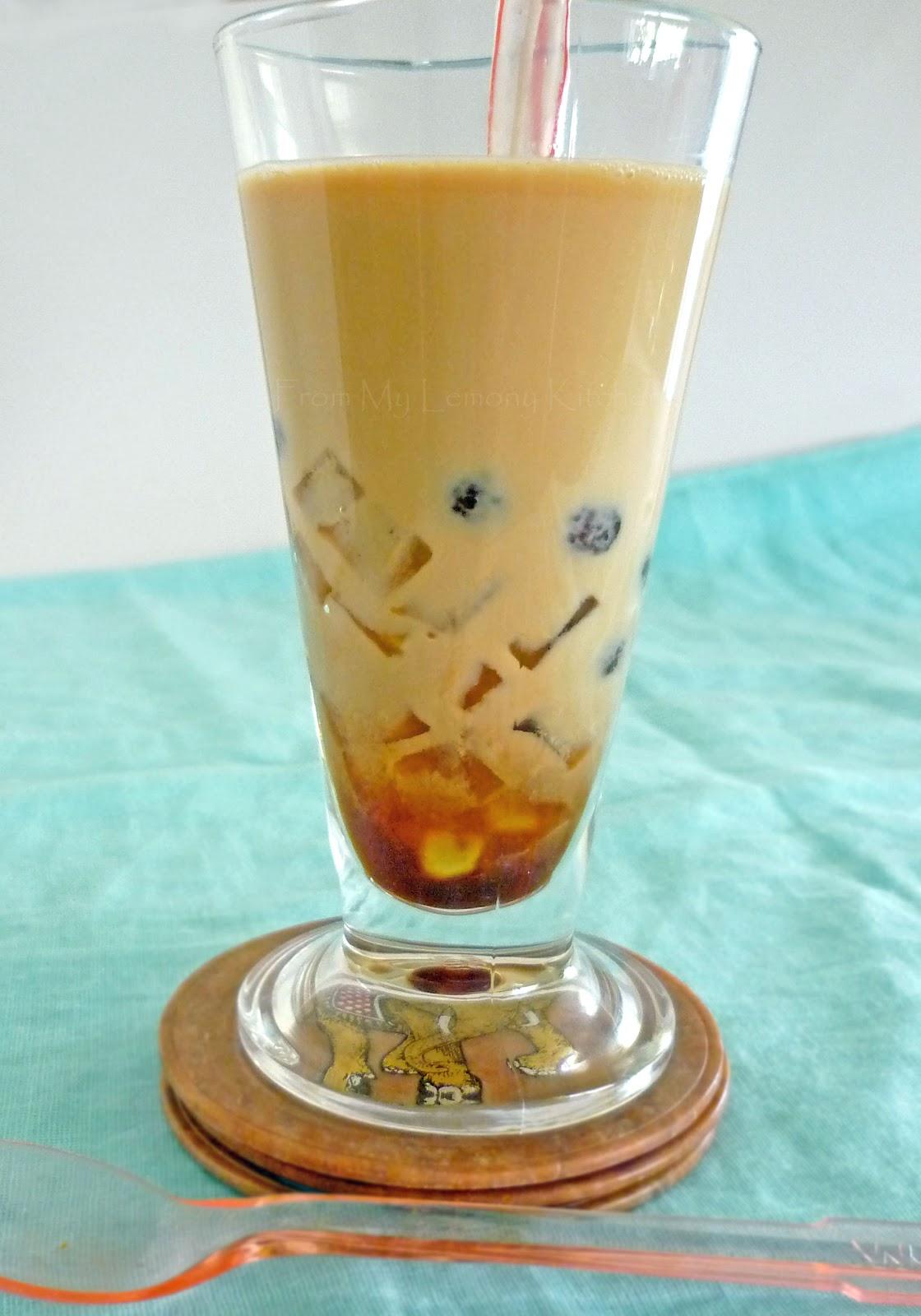 Black Pearls and Aloe Vera Jelly Bubble Tea - Lisa's Lemony Kitchen