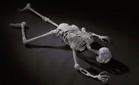 Arquetipos: Esqueleto hecho de plástico reciclado