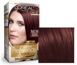 . The color was by L'Oreal Paris Preference 4M Dark Mahogany Brown