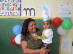 Oronda con su hijo