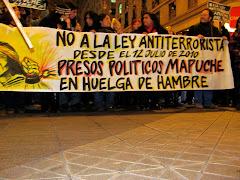 Marcha Solidaridad Mapuches en Huelga de hambre