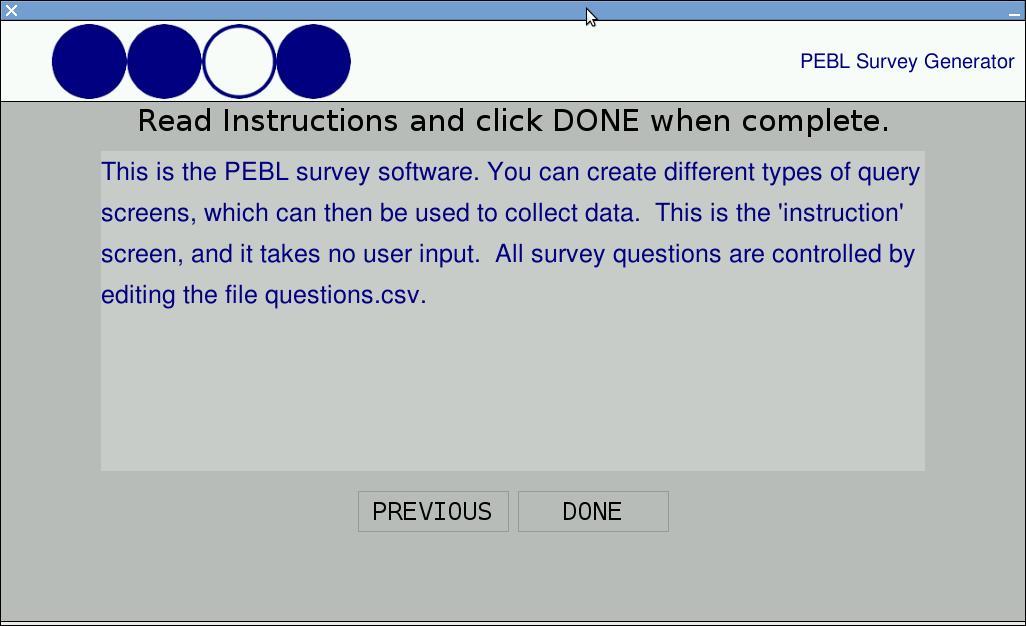 pebl blog using the pebl survey generator