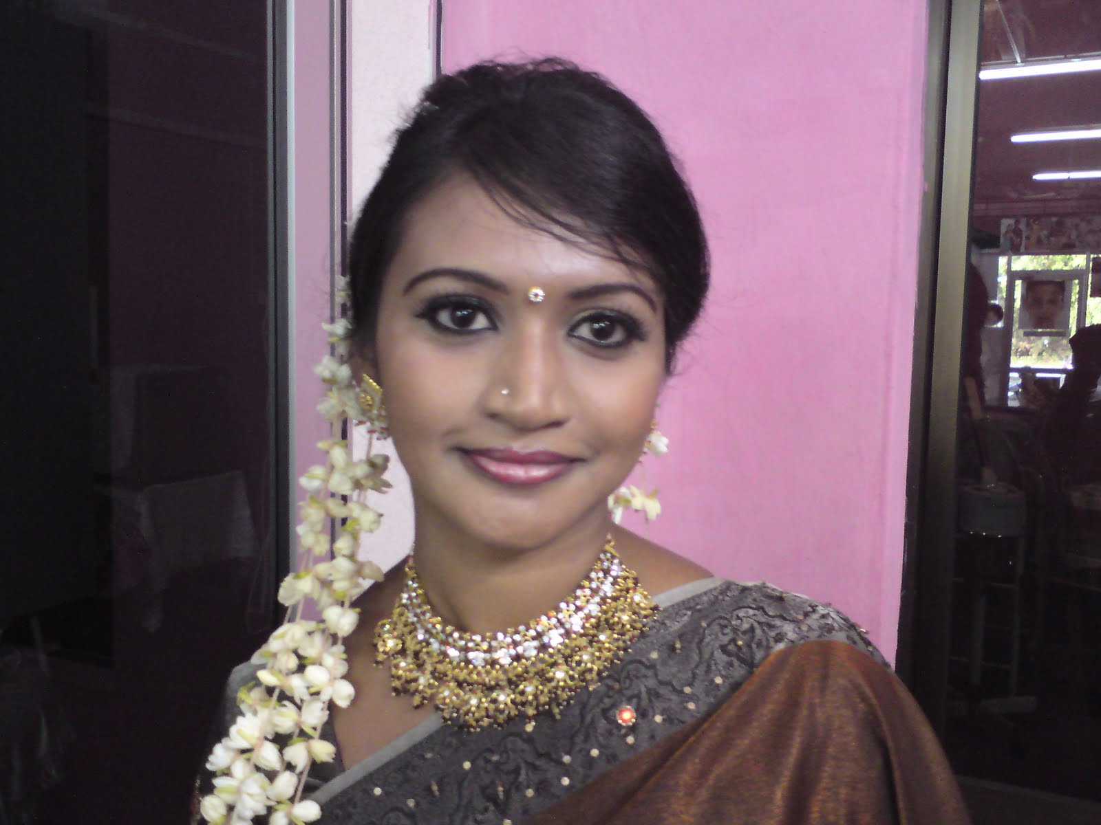 Simple Tamil Bridal Plait Hairstyle With Jasmine Flowers