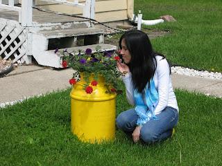 Girl Talk Unique Flower Pots