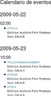 Calendario de Eventos OCS - Original