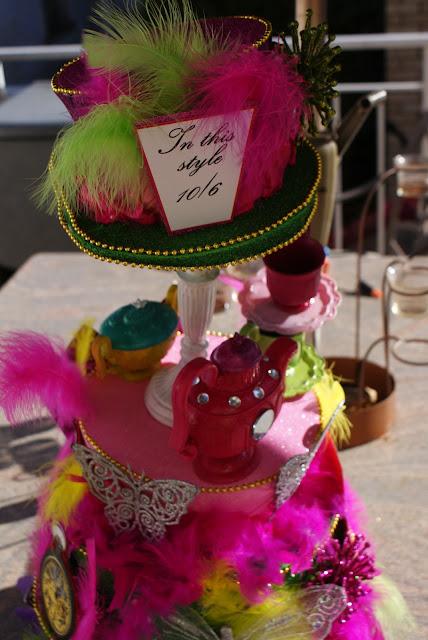 alice in wonderland birthday party centerpiece paper chick