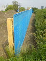 blue fence, Greenway