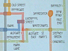 Charles Rennie Mackintosh -style map