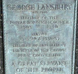 George Lansbury Memorial plaque, 39 Bow Road
