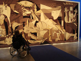 Guernica tapestry at the Whitechapel