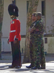 Guardsman outside Guards Museum
