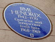 Hendrix lived here, 23 Brook Street