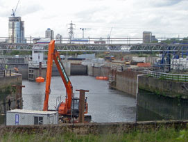 dredging on the Prescott Channel