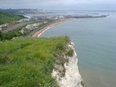 Dover Harbour, from the top of Shakespeare Cliff