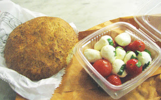 The perfect picnic lunch: chewy whole grain focaccia and caprese salad ...