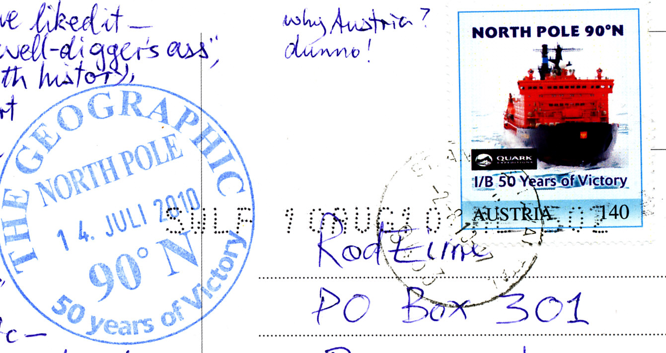 North pole stamp 2012