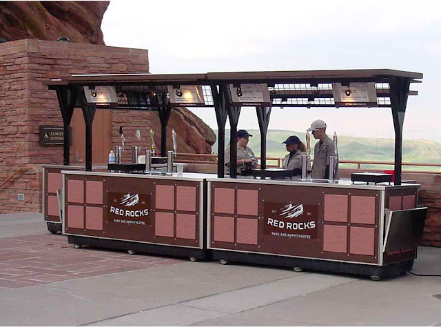 Red Rocks Amphitheater Beer Cart Design By DJ Emir Santana for Carts of Colorado
