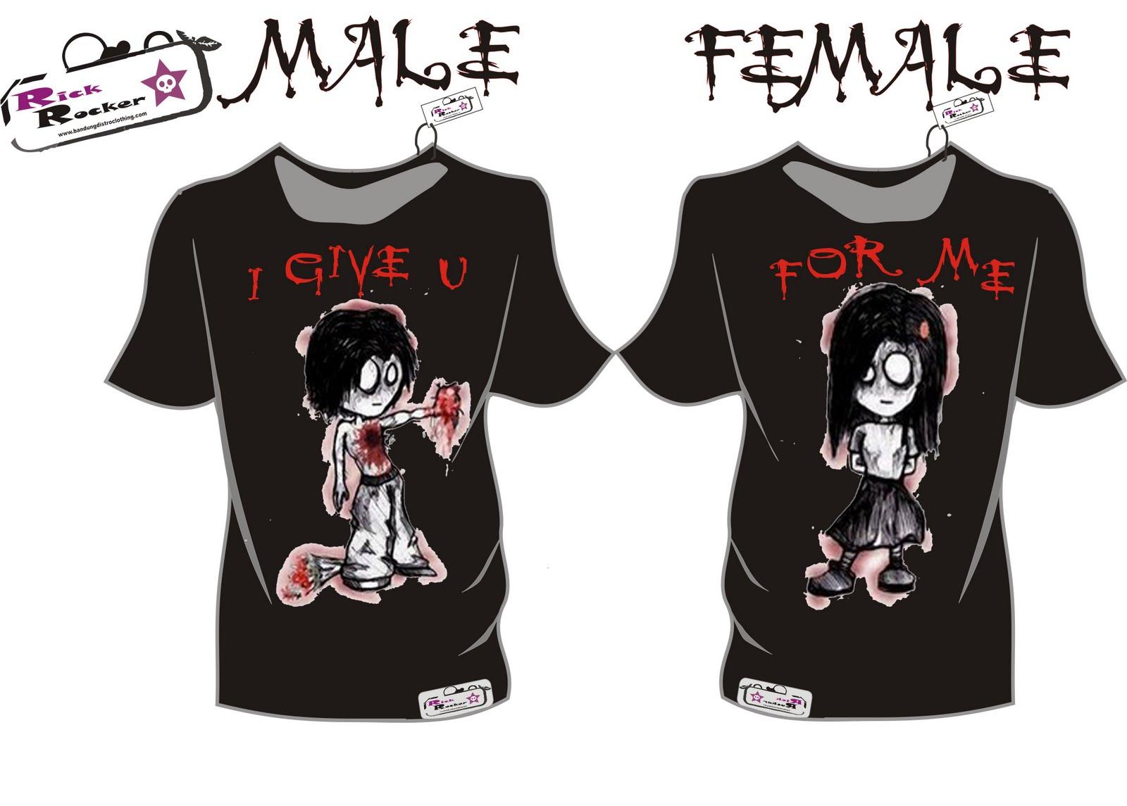 Emo Couple Shirt Design