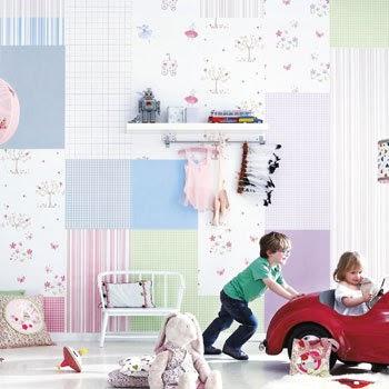 Papel pintado infantil lollipops camengo d 39 orte zaragoza cortinas estores panel japon s - Papel pintado zaragoza ...