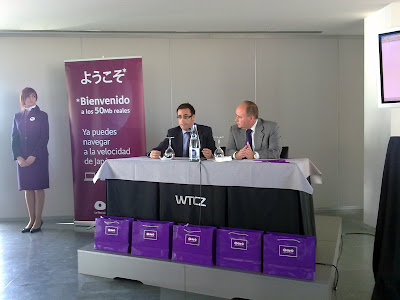 Ricardo Cavero y Guillermo Mercader ONO en el World Trade Center de Zaragoza