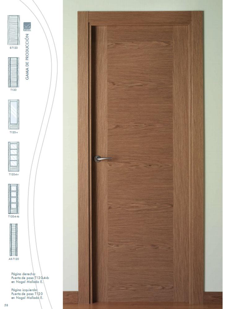 Puertas de nogal precios materiales de construcci n para for Puertas modernas interior precios