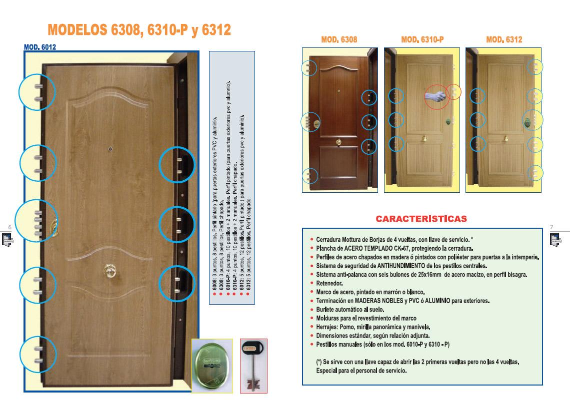 Puertas acorazadas santoyo precios materiales de - Cerraduras puertas blindadas precios ...