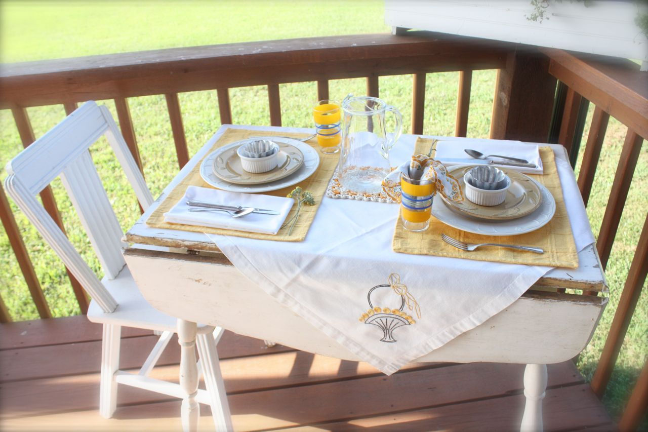 Mish Mash: Pretty Place Setting...Yellow Table for Two