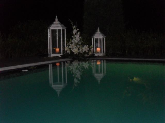 Anoitecer na piscina