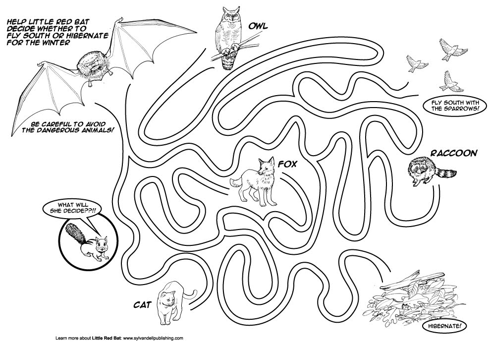 Christina Wald\'s Design and Illustration Blog: Little Red Bat Fun Sheet